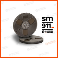 R34111 - SM911 - 1/4in, 7in plastic reel, trident hub, hinged box, 1200ft